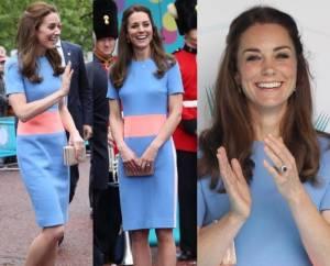 Kate Middleton, look moderno: tubino corto e tacchi FOTO