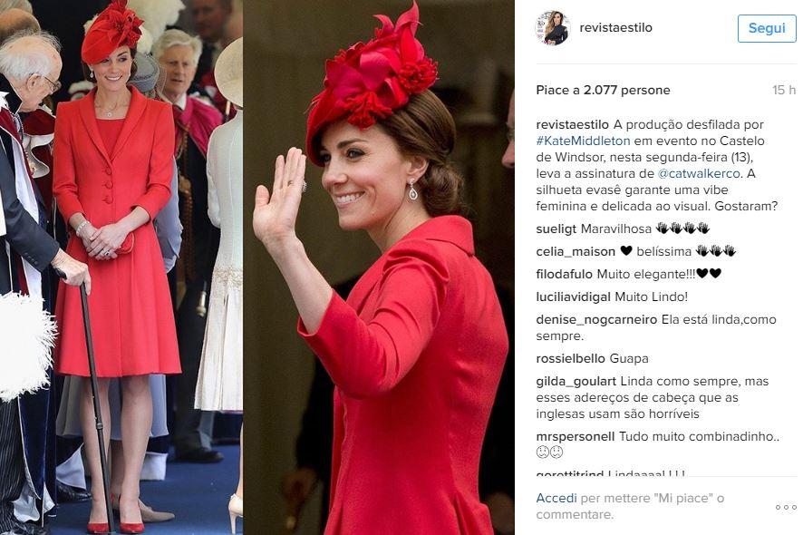 Kate Middleton, Charlotte Casiraghi: passione rosso FOTO