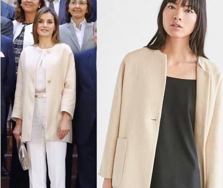 Letizia Ortiz impeccabile: giacca low cost e tacchi alti FOTO