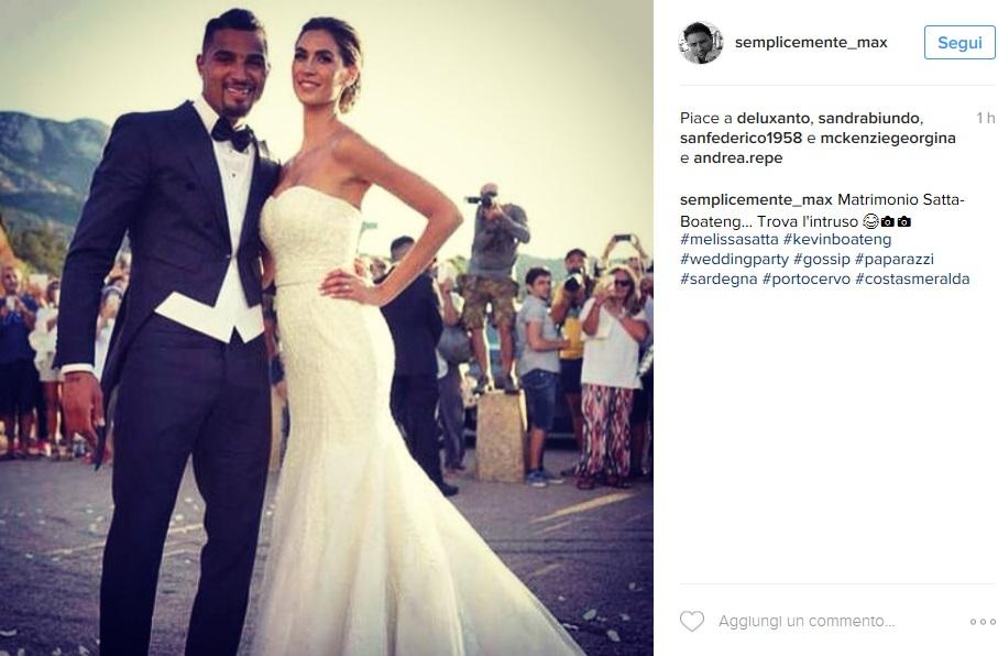 Giorgia Palmas, nozze Melissa Satta in Elisabetta Franchi FOTO