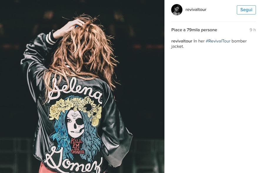 Selena Gomez con la giacca personalizzata FOTO