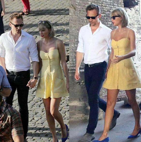 Taylor Swift e Tom Hiddleston a Roma: abito The Reformation FOTO