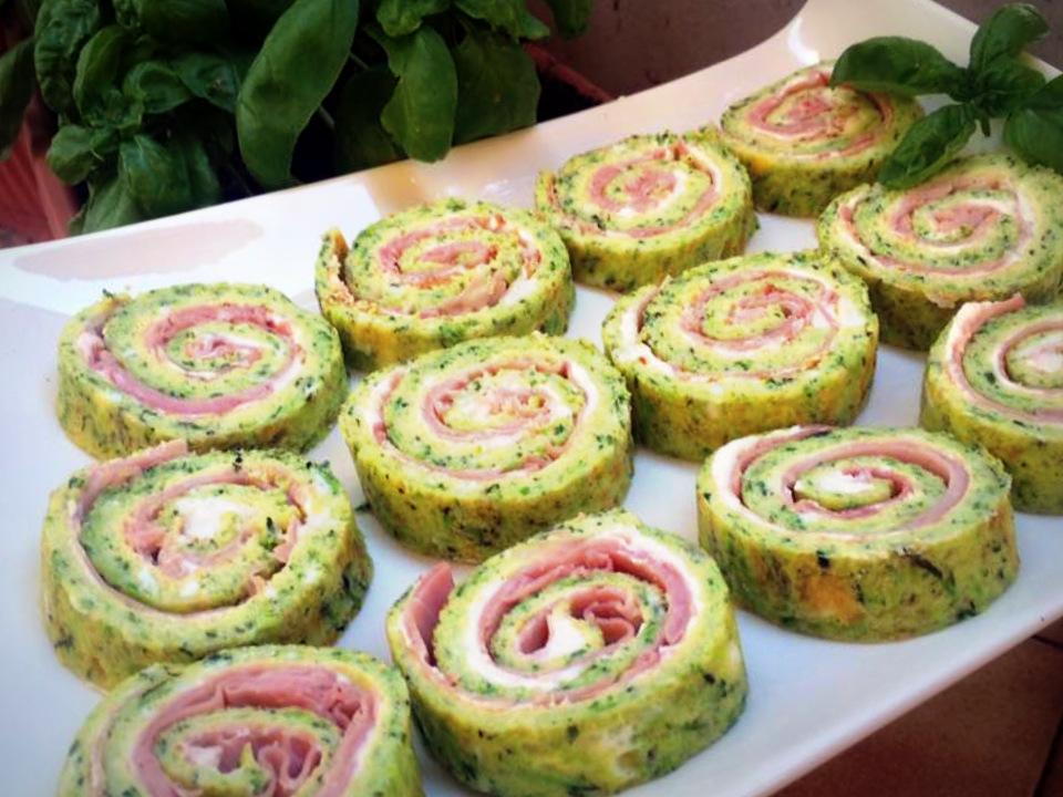 Rotolo di Fornata alle Zucchine con Prosciutto e Philadelphia