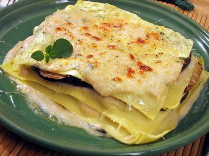 Lasagne al forno con pesce spada e melanzane