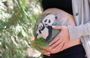 Body painting su pancione donne in gravidanza1