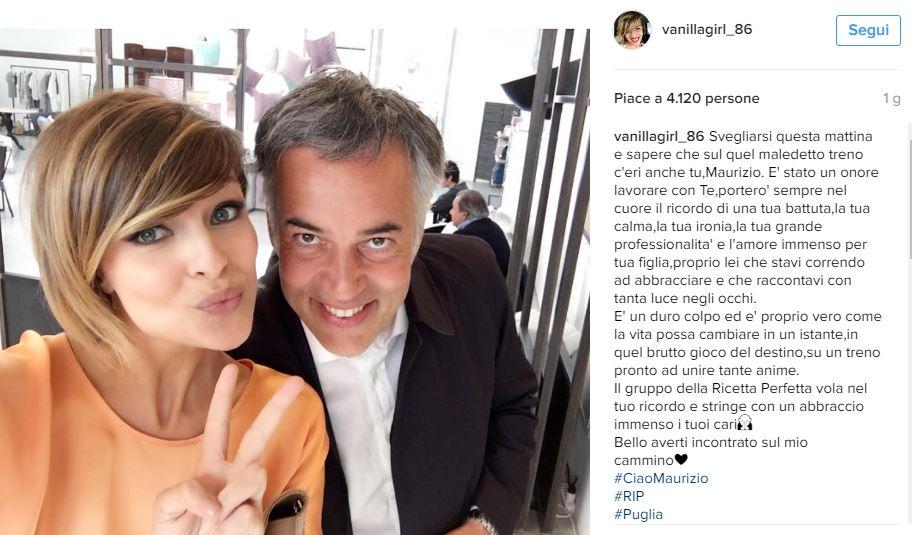 Scontro treni Puglia: Cristina Chiabotto ricorda Maurizio Pisani