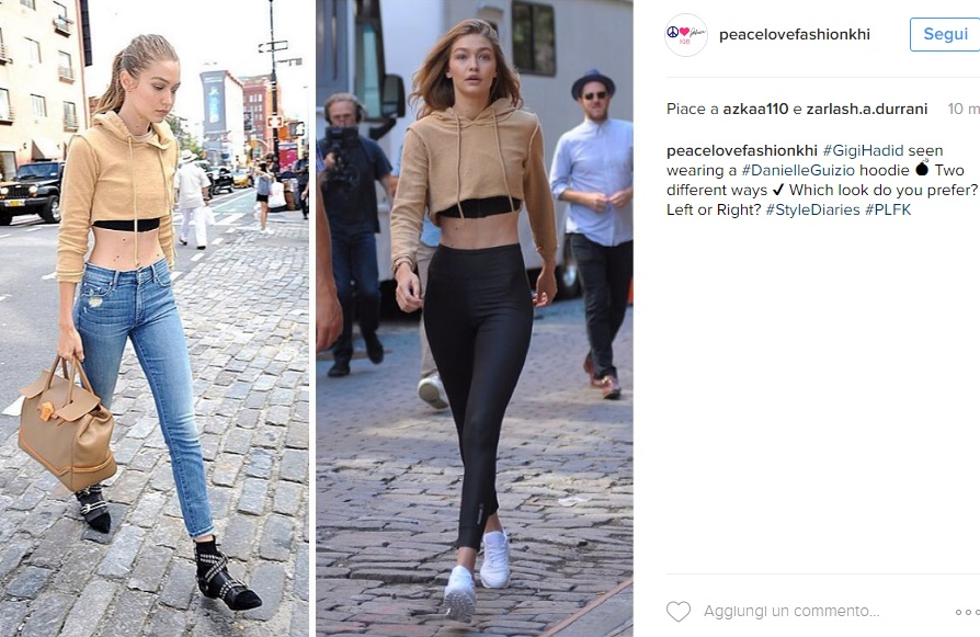 Gigi Hadid magrissima: legging e pancia in vista FOTO