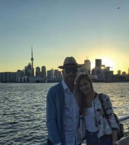 Graziano Pellè e Viky Varga in Canada: vacanza romantica FOTO
