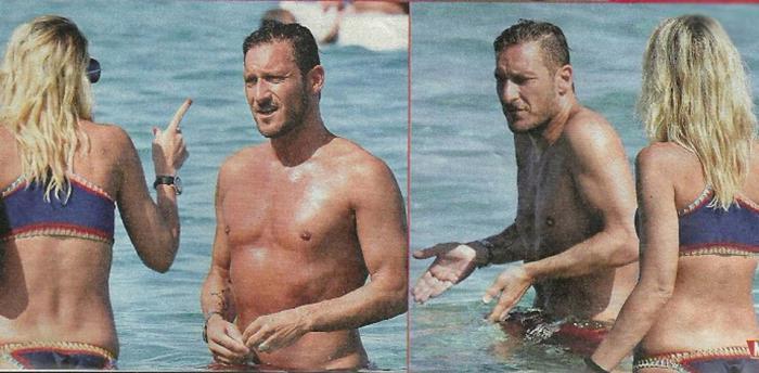 Ilary Blasi e Francesco Totti litigano al mare: FOTO