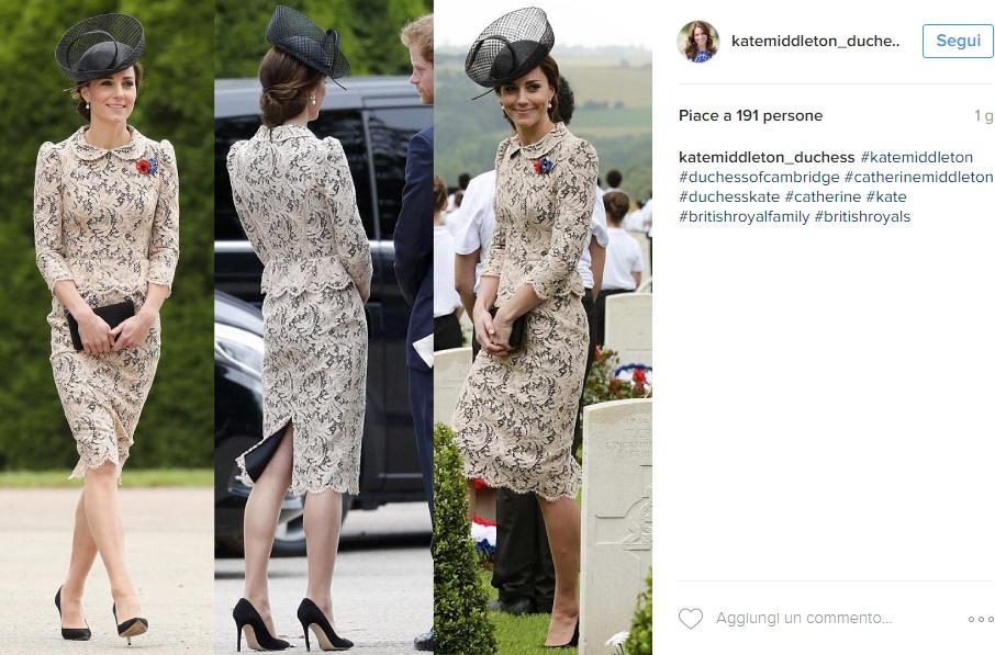 Kate Middleton, abito in pizzo Sophie Hallette FOTO