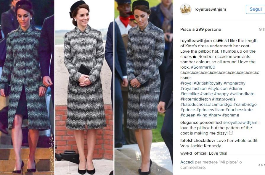 Kate Middleton impeccabile con il soprabito Missoni FOTO
