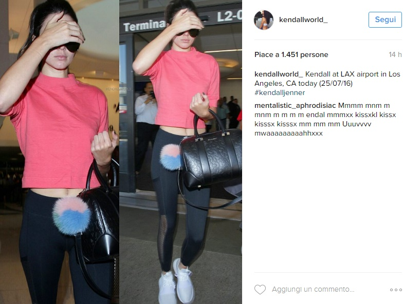 Kendall Jenner, legging e top: sporty chic all'aeroporto FOTO