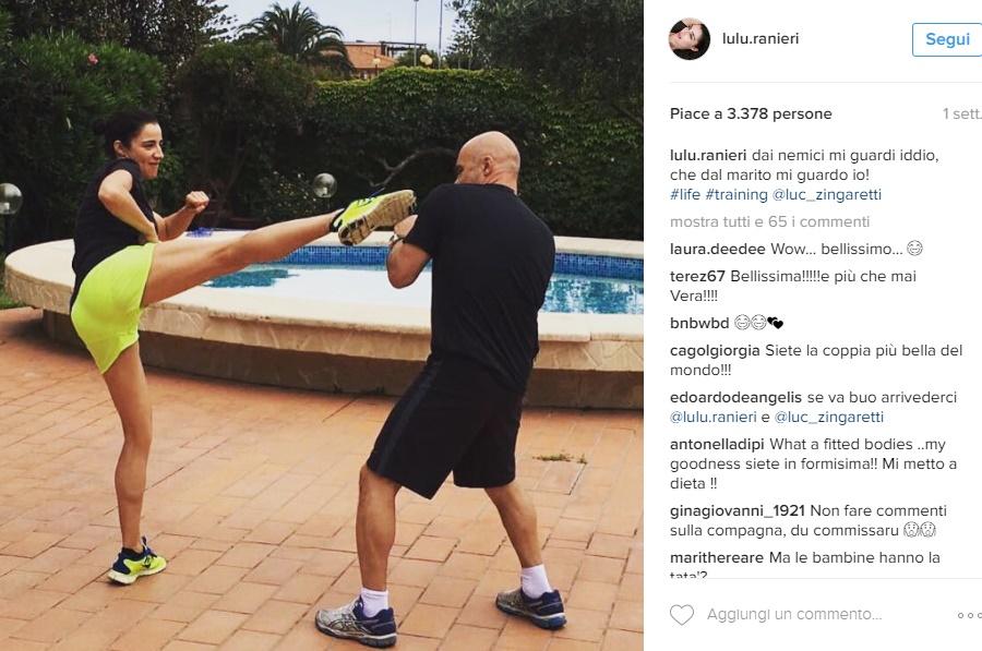 "Luisa Ranieri, calcio a Luca Zingaretti: ""Dai nemici..."" FOTO"