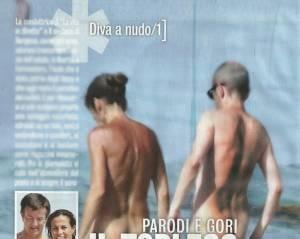 Cristina Parodi senza costume nella spiaggia dei nudisti