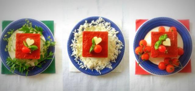 Pensando ai nostri atleti impegnati nelle Olimpiadi di Rio2016 ho creato questo tortino tricolore di riso e pomodoro composto da ottimo riso, legumi sostanziosi e una golosa coulis di pomodoro.