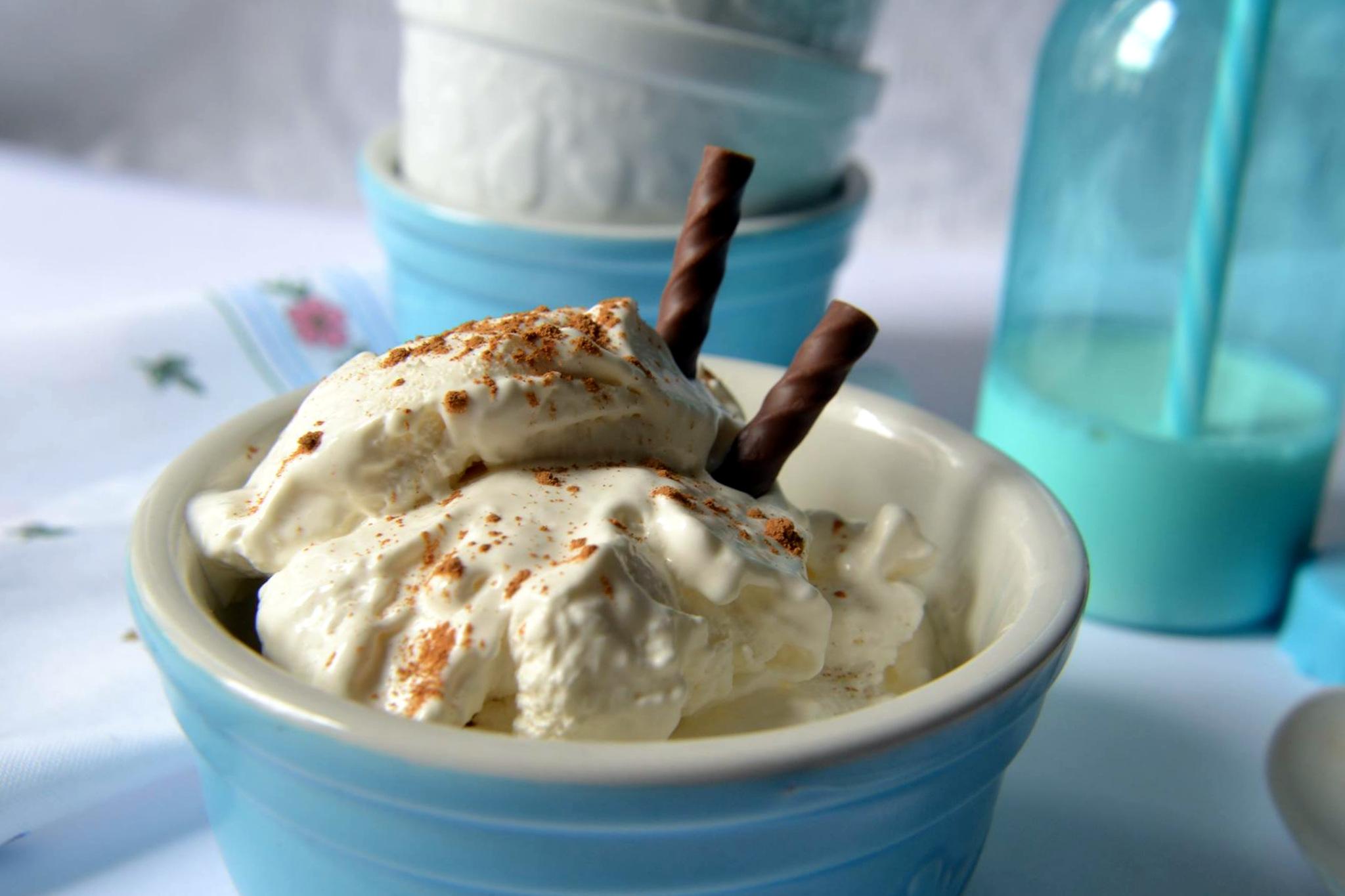 gelato alla ricotta con e senza gelatiera