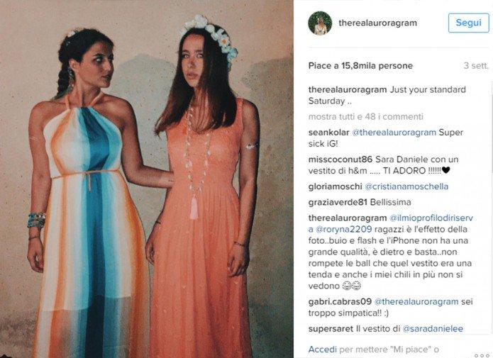 Aurora Ramazzotti a Formentera con Sara Daniele FOTO