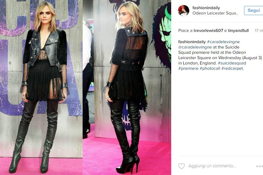 Cara Delevingne sensuale: trasparenze e stivali Louboutin FOTO