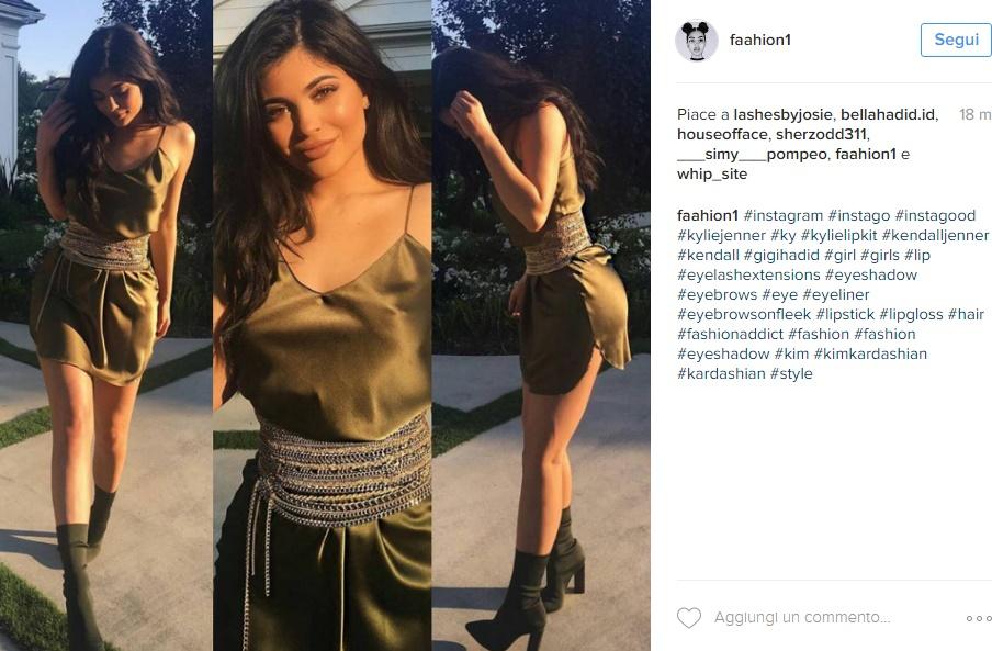 Kylie Jenner sempre più magra: esplosiva in abito corto FOTO