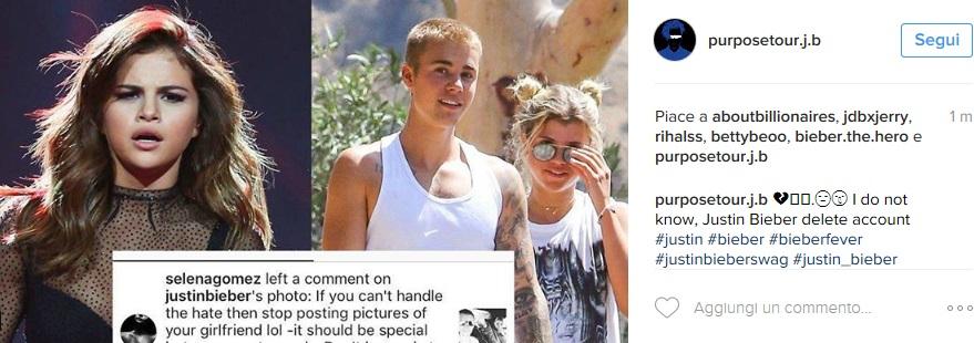Selena Gomez gelosa di Justin Bieber: disastro Instagram FOTO