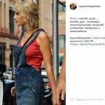 Taylor Swift casual: minigonna jeans e gambe in vista FOTO