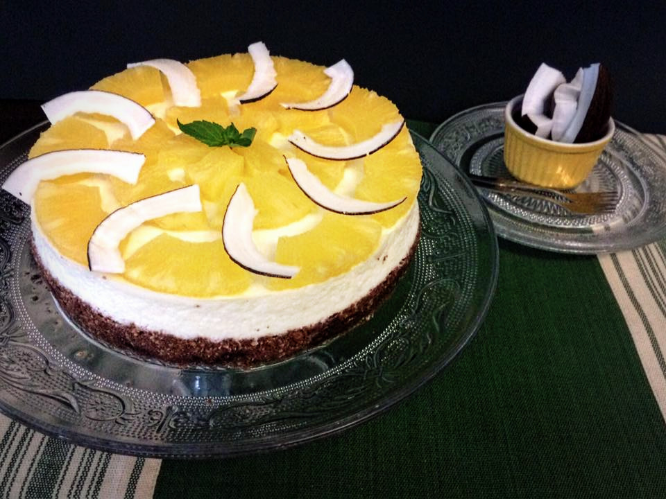 Pina Colada Cheesecake... Con tutto il sapore dei Caraibi