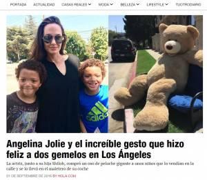 Angelina Jolie: ecco cosa ha fatto per 2 bambini! VIDEO