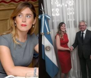 Maria Elena Boschi: tubino aderente a Buenos Aires FOTO