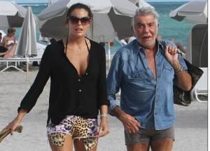 Roberto Cavalli con Sandra Nilsson: fidanzata ha 45 anni di meno
