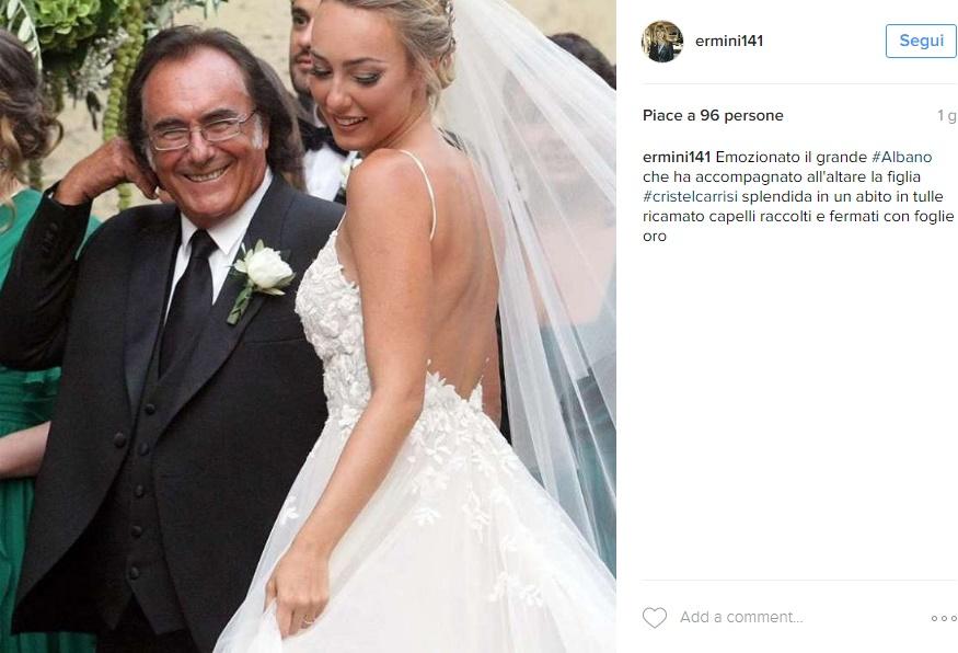 Cristel Carrisi sposa: grande assenti Loredana Lecciso e... FOTO