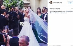 Cristel Carrisi si è sposata con Davor Luksic: FOTO delle nozze