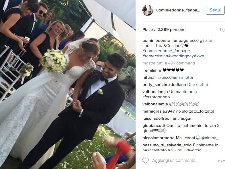 Cristian e Tara matrimonio: ecco il vestito da sposa FOTO