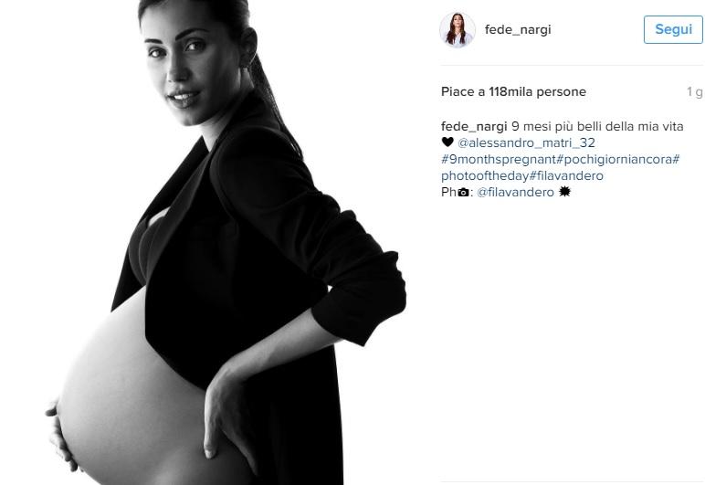 Federica Nargi incinta: splendida con il pancione
