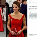 Kate Middleton impeccabile: abito rosso fuoco e tacchi FOTO