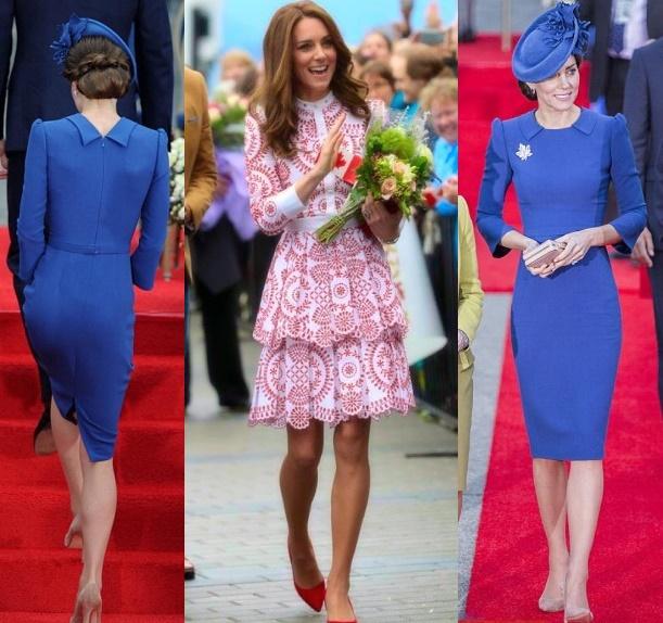 finest selection 55489 c9e5d FOTO Kate Middleton in Canada: look blu e rosso, è sfida