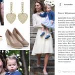 Kate Middleton impeccabile in abito bianco. E Charlotte... FOTO