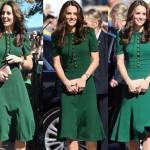 Kate Middleton impeccabile in D&G verde aderente FOTO