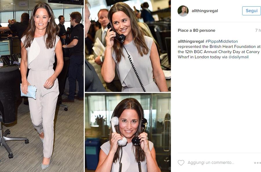 Kate Middleton, sorella Pippa chic: tutina e anello in vista FOTO