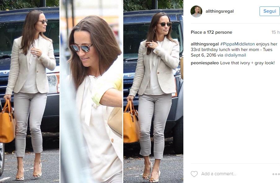 Kate Middleton, sorella Pippa: casual chic e anello in vista FOTO