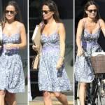Kate Middleton, sorella Pippa chic: abito scollato in bici FOTO