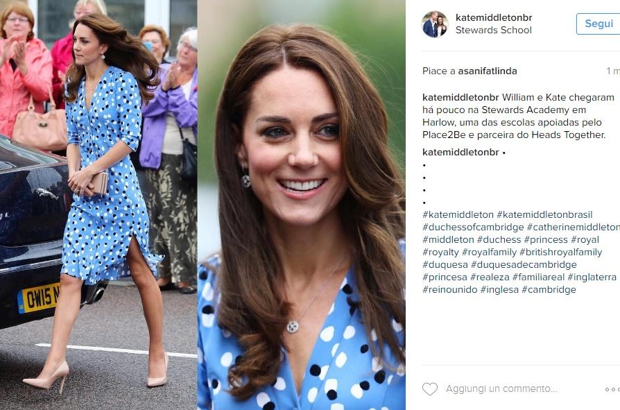 Kate Middleton osa: vestito con spacco e gambe in vista FOTO