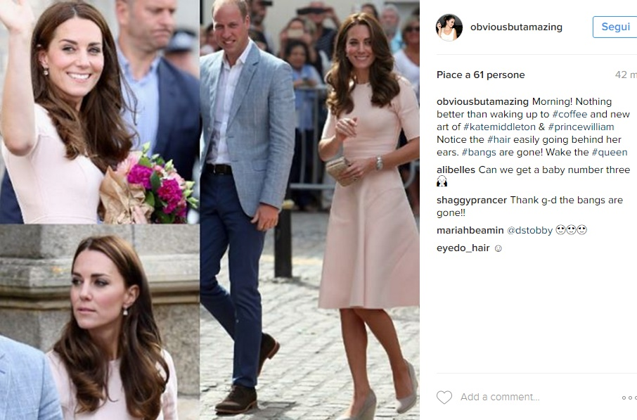 Kate Middleton è tornata! Super chic in abito rosa FOTO