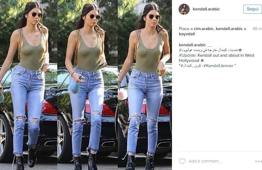 Kendall Jenner eccessiva? Sotto la maglia... niente FOTO