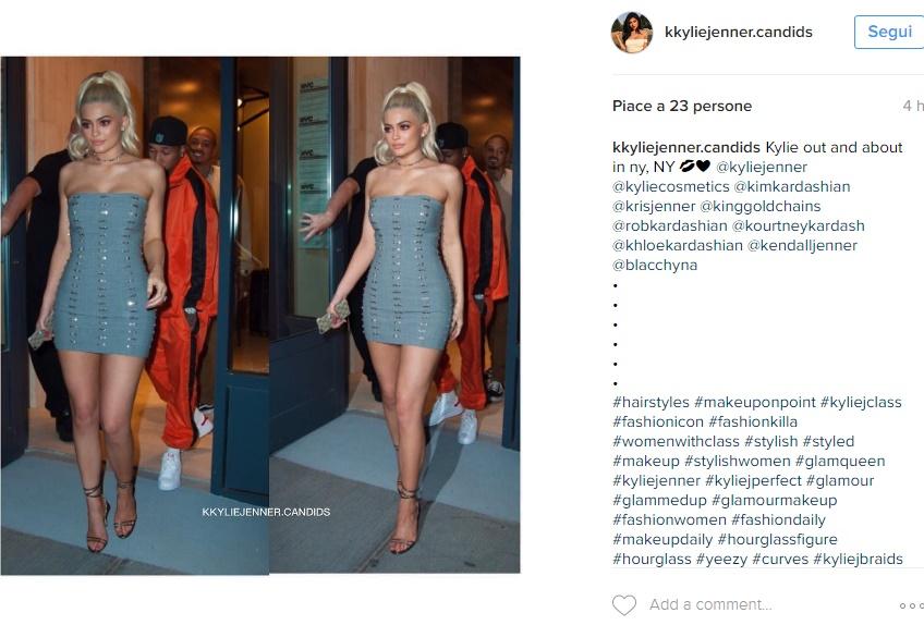 Kylie Jenner, esplosiva con il tubino corto aderente FOTO