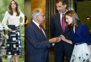 Letizia Ortiz, Kate Middleton: passione midi skirt FOTO
