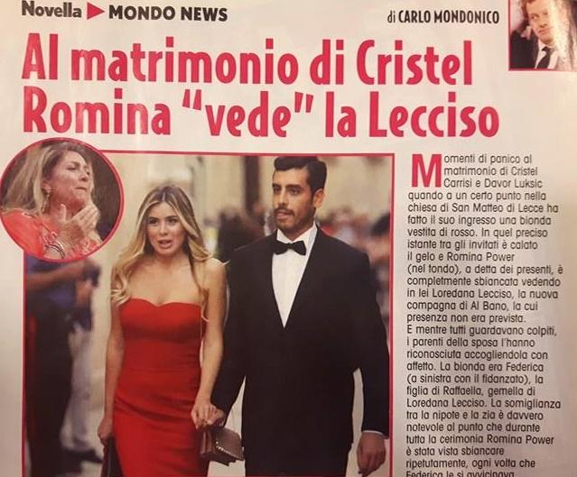 """Romina Power, al matrimonio Cristel il gelo: """"Ha pensato di vedere..."""""""