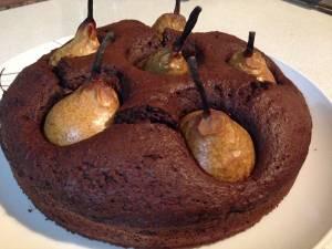 Torta al Cioccolato con Pere Affogate