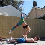 Allenamenti folli di una coppia malata di fitness22