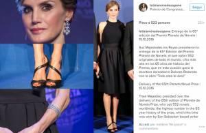 Letizia Ortiz total black: abito nero e sandali FOTO