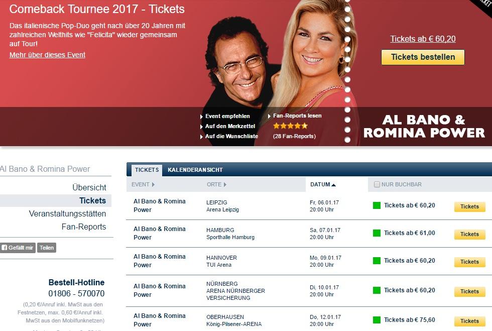 Albano e Romina Power, tour tedesco: mistero svelato FOTO